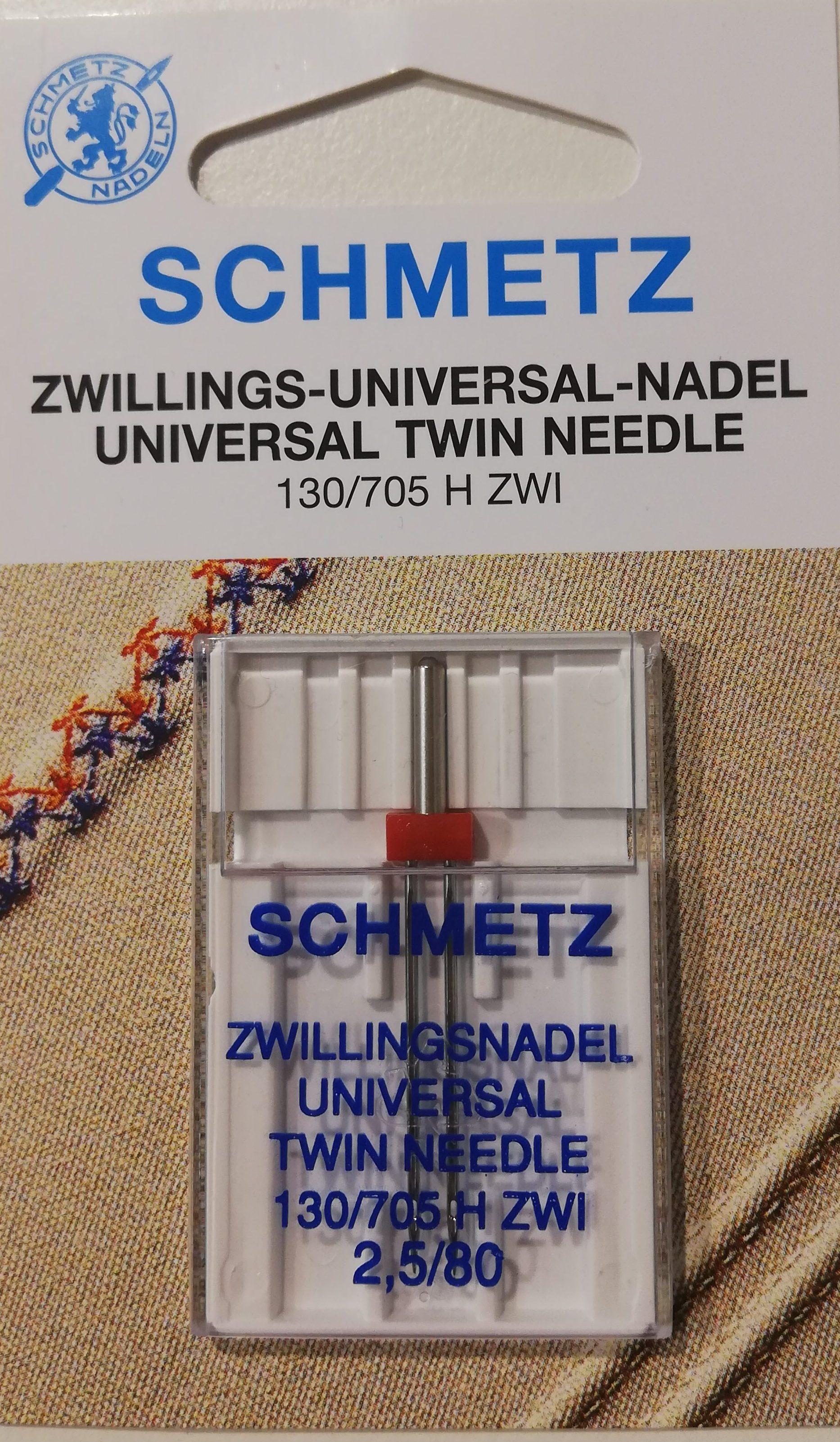 Schmetz tweeling naald universal 2.5/80